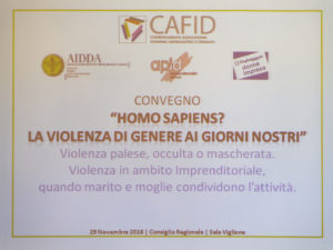 Convegno Homo Sapiens? La violenza di genere ai giorni nostri
